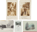 Autographs:U.S. Presidents, Five Presidential Christmas Cards with Printed Signatures....