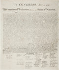 Miscellaneous:Broadside, William J. Stone for Peter Force: The Declaration of Independence....