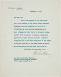 Autographs:U.S. Presidents, Woodrow Wilson Typed Letter Signed as President. ...