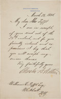 Autographs:U.S. Presidents, Chester A. Arthur Letter Signed as President. ...
