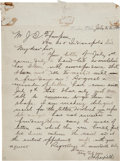 Autographs:U.S. Presidents, James A. Garfield Autograph Letter Signed. ...