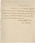 Autographs:U.S. Presidents, James Madison Autograph Letter Signed to Thomas Jefferson....