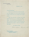 Autographs:U.S. Presidents, Theodore Roosevelt Typed Letter Signed as President. ...