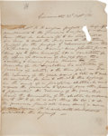 Autographs:U.S. Presidents, William Henry Harrison Autograph Letter Signed in the ThirdPerson....