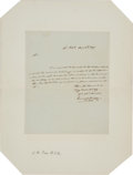Autographs:U.S. Presidents, James K. Polk Autograph Letter Signed....