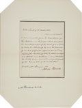 Autographs:U.S. Presidents, Millard Fillmore Letter Signed...