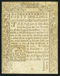 Colonial Notes:Connecticut, Connecticut July 1, 1780 40s Very Fine.. ...