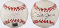 Autographs:Baseballs, Pete Rose & Andy Pafko Single Signed Baseball Pair (2). ...
