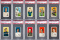 Baseball Cards:Lots, 1909-11 T206 White Borders PSA-Graded Collection (10). ...