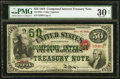Large Size:Compound Interest Treasury Notes, Fr. 192b $50 1864 Compound Interest Treasury Note PMG Very Fine 30 Net.. ...