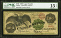 Large Size:Legal Tender Notes, Fr. 165a $100 1862 Legal Tender PMG Choice Fine 15 Net.