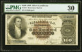 Large Size:Silver Certificates, Fr. 341 $100 1880 Silver Certificate PMG Very Fine 30.. ...