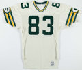 Football Collectibles:Uniforms, 1987 Patrick Scott Game Worn Green Bay Packers Jersey....