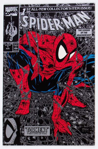 Spider-Man #1 Silver Edition Unbagged Signed by Todd McFarlane (Marvel, 1990) Condition: NM