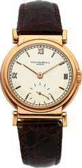 Timepieces:Wristwatch, Patek Philippe & Co. Rare Ref. 485 Vintage Rose Gold Wristwatch, circa 1941. ...