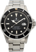 Timepieces:Wristwatch, Rolex Ref. 16800 Steel Submariner, circa 1982. ...