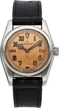 Timepieces:Wristwatch, Rolex Very Fine Ref. 2940 Steel Bubble Back With Rare Dial, circa1946. ...
