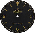 Timepieces:Other , Rolex Dial For Ref. 1016 Oyster Perpetual Explorer. ...
