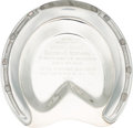 Miscellaneous Collectibles:General, 1942 Silver Horseshoe Display Worn by Triple Crown Winner Whirlawayin the Massachusetts Handicap....