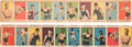 Boxing Cards:General, 1925 W529-1 Anonymous Boxing Complete Sets Pair (2) - BothVersions. ...