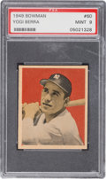 Baseball Cards:Singles (1940-1949), 1949 Bowman Yogi Berra #60 PSA Mint 9 - None Higher....