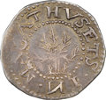 1652 6PENCE Oak Tree Sixpence, IN on Obverse, Noe-21.5, W-400, Salmon 2a-B, R.6 -- Obverse Scratched -- NGC Details. XF...