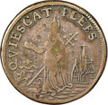 Colonials, (c. 1670) FARTH Mark Newby's St. Patrick Farthing, Silver -- Mount Removed -- NGC Details. Fine. Breen-210, W-11520, R.5. ...