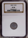 Early Half Dimes: , 1800 H10C XF40 NGC. PCGS Population (13/105). NGC Census: (7/89).Mintage: 40,000. Numismedia Wsl. Price: $2,450. (#4264)...