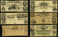Obsoletes By State:Virginia, VA - Lot of 11 Genuine Virginia Obsolete Banknotes.. ... (Total: 11 notes)