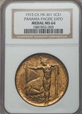 Expositions and Fairs, 1915 Panama-Pacific Exposition, Official Medal, HK-401, MS65 NGC. Gilt, 38mm, plain edge. San Francisco, CA. ...