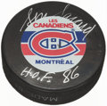 Hockey Collectibles:Others, Serge Savard Signed Montreal Canadiens Hockey Puck. ...