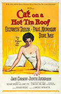 "Movie Posters:Drama, Cat on a Hot Tin Roof (MGM, 1958). One Sheet (27"" X 41"") ReynoldBrown Artwork.. ..."
