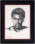 Autographs:Others, 1971 Muhammad Ali Drugs Poster. ...