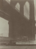 Photographs:Gum bichromate, William Gordon Shields (American, 1883-1947). BrooklynBridge, circa 1900. Gum bichromate. 4 x 3 inches (10.2 x 7.6cm)...