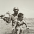 Photographs:Gelatin Silver, Lee Miller (American, 1907-1977). Picasso and Claude, GolfeJuan, France, 1949. Gelatin silver, printed later. 10-1/8 x ...