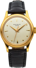 Timepieces:Wristwatch, Patek Philippe Very Fine & Rare Ref. 2508 Yellow GoldCalatrava, circa 1957. ...