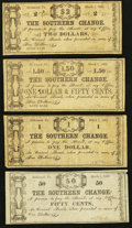 Obsoletes By State:Virginia, VA - Lot of 4 S. P. Cocke-The Southern Change, Richmond March 1, 1862 Scrip.. ... (Total: 4 notes)
