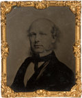 Political:Ferrotypes / Photo Badges (pre-1896), Horace Greeley: Abbott Tintype....