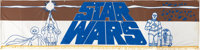 "Star Wars (20th Century Fox, 1977). Silk Screen Banner (25"" X 104"")"