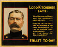 "Movie Posters:War, World War I Propaganda (Parliamentary Recruiting Committee, 1915).British Poster (49.5"" X 40"") ""Lord Kitchener Says."". ..."