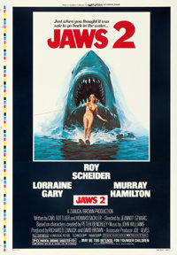 "Jaws 2 (Universal, 1978). One Sheet (28.25"" X 41"") Printer's Proof, Lou Feck Artwork"