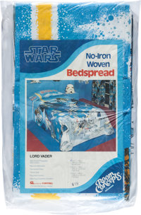 "Star Wars Bedspread by Room Concepts (20th Century Fox, 1977). Bunk Size in Original Bag (63"" X 108"")"