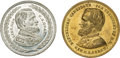 Political:Tokens & Medals, Ulysses S. Grant: Pair of 1868 Campaign Medals.... (Total: 2 Items)