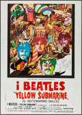 "Movie Posters:Animation, Yellow Submarine (United Artists, R-Late 1970s). Italian 2 - Fogli(39.25"" X 55.25""). Animation.. ..."