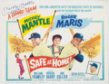 Autographs:Photos, Signed Mickey Mantle Safe at Home Lobby Card. ...