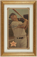 Baseball Cards:Singles (1960-1969), Signed 1968 Topps Posters Mickey Mantle #18. ...