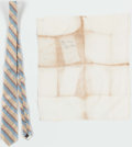 Autographs:Others, Mickey Mantle Signed Neck Tie and Cloth Napkin. ...