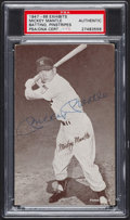 Autographs:Sports Cards, Signed 1947-66 Exhibits Mickey Mantle Batting, Pinstripes, PSA/DNAAuthentic. ...