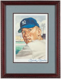 "Autographs:Photos, 1953 Topps Mickey Mantle Signed ""Marriott"" Print - Limited to Only2000. ..."