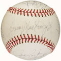Autographs:Baseballs, 1976 Pittsburgh Pirates Team Signed Baseball (17 Signatures)....